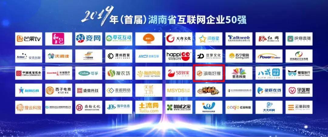 新突破!湖南好搜入选首届湖南省互联网企业50强!